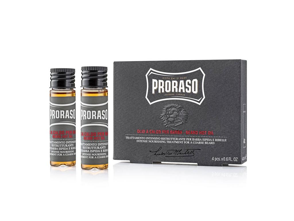 Horký olej na vousy Proraso, 4 ks