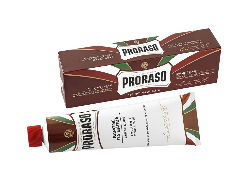 Krém na holení na tvrdé vousy Proraso Sandalwood v tubě