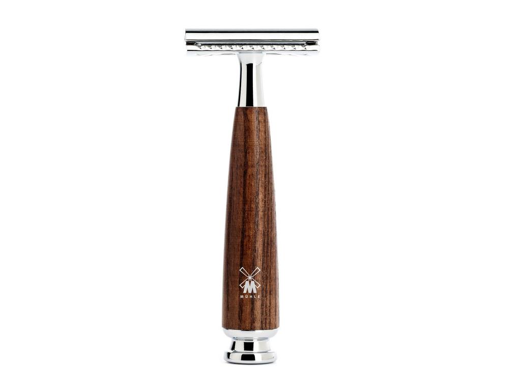 Holicí strojek Mühle Rytmo Ash wood, žiletka