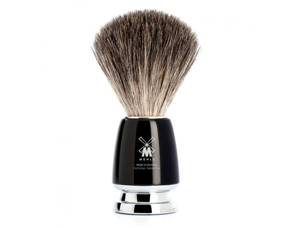 Štětka na holení Mühle Rytmo, černá, Pure badger
