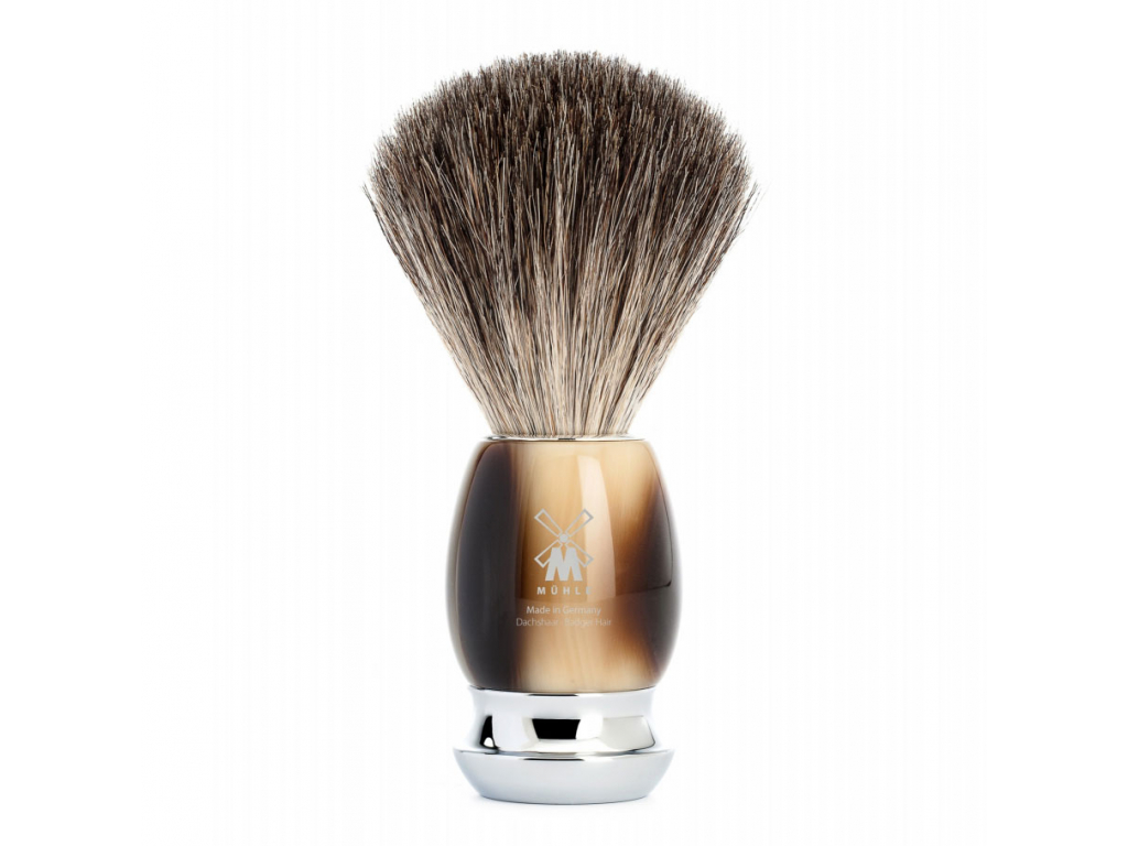 Štětka na holení Mühle Vivo Horn Brown, Pure badger