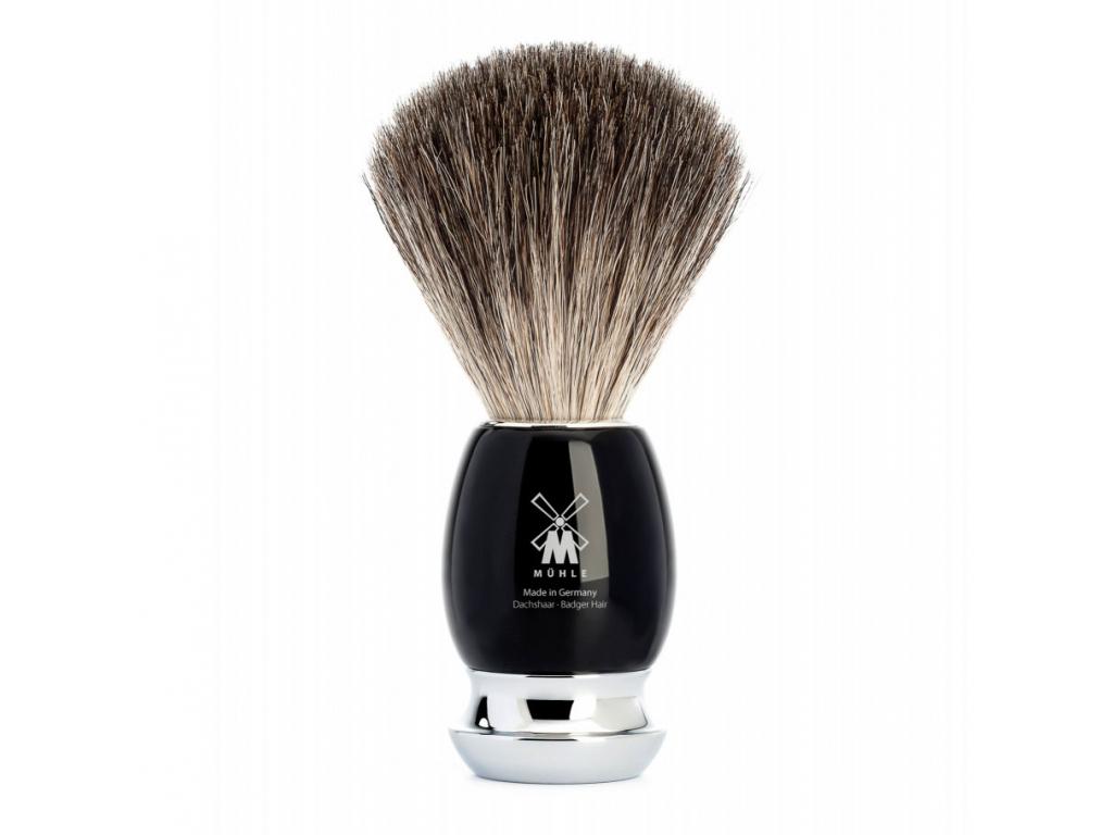 Štětka na holení Mühle Vivo, černá, Pure badger