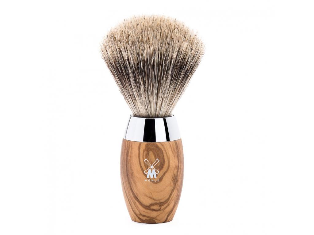 Štětka na holení Mühle Kosmo Olive wood, Fine badger