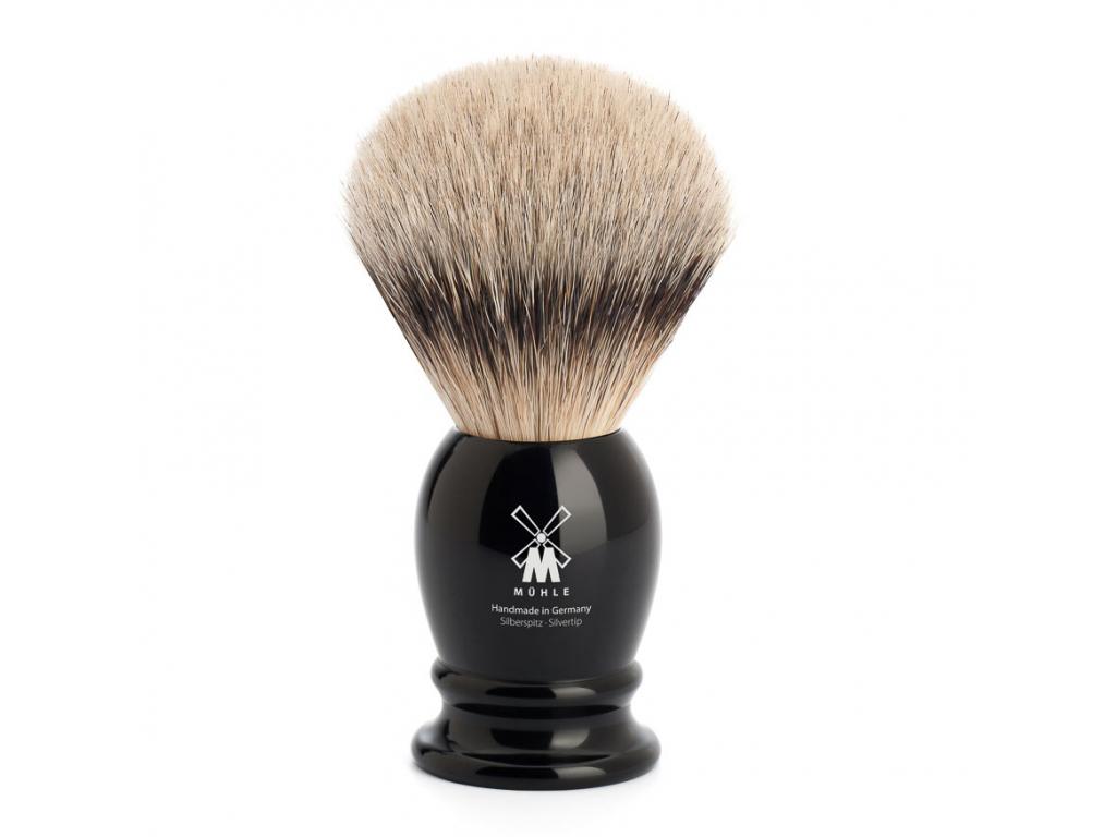 Štětka na holení Mühle CLASSIC, černá, Silvertip badger
