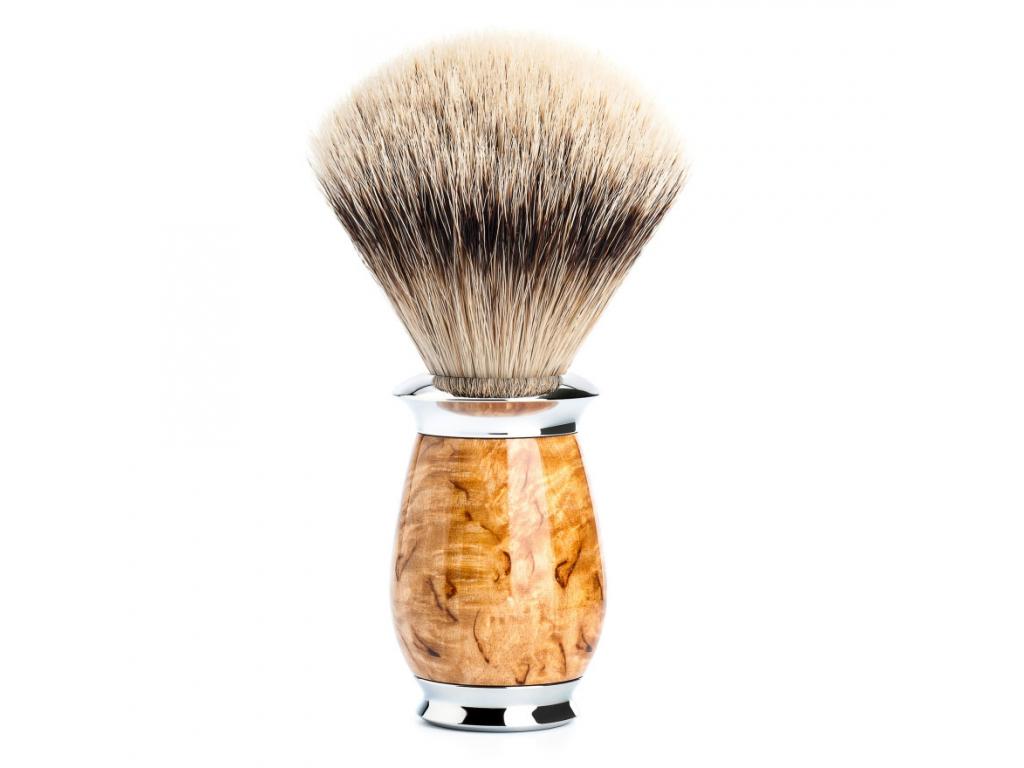Štětka na holení Mühle Purist Birch, Silvertip badger