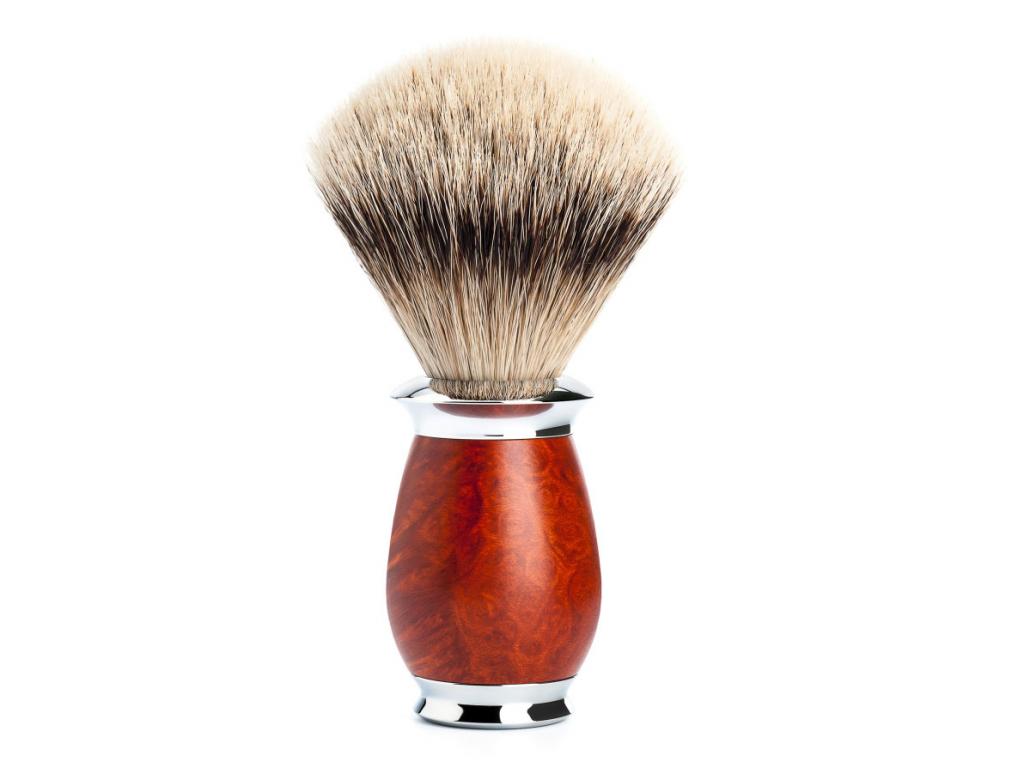 Štětka na holení Mühle Purist Briar, Silvertip badger