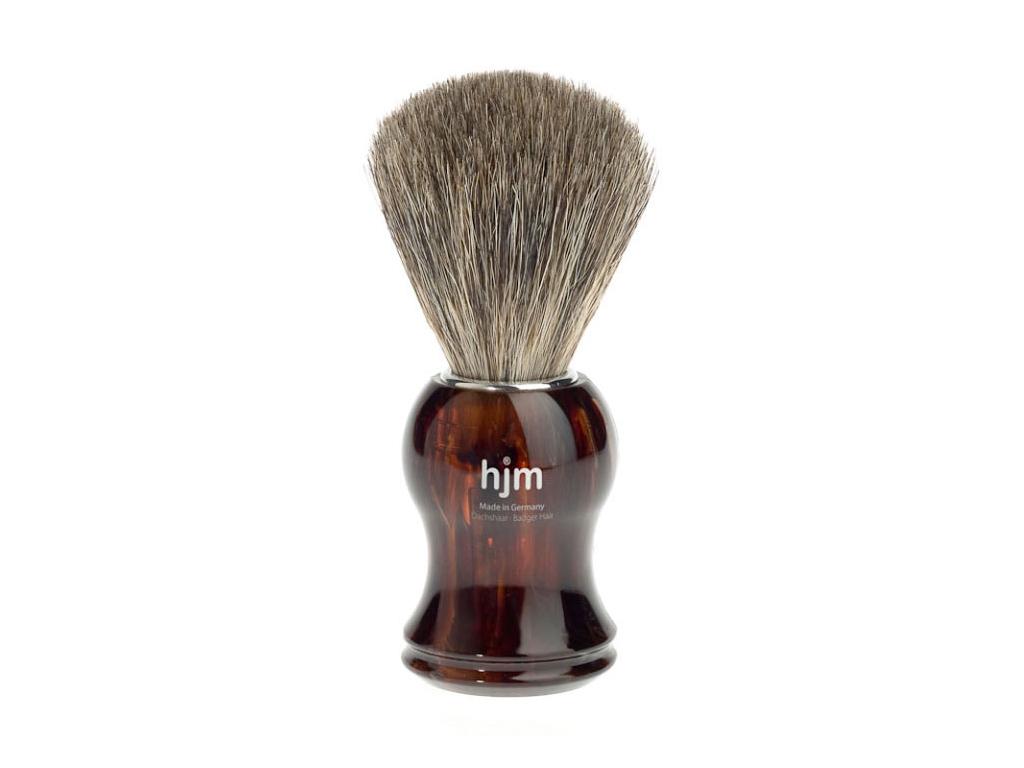 Štětka na holení HJM, želvovina, Pure badger