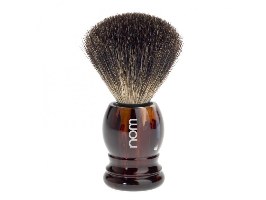 Štětka na holení HJM nom, želvovina, Pure badger