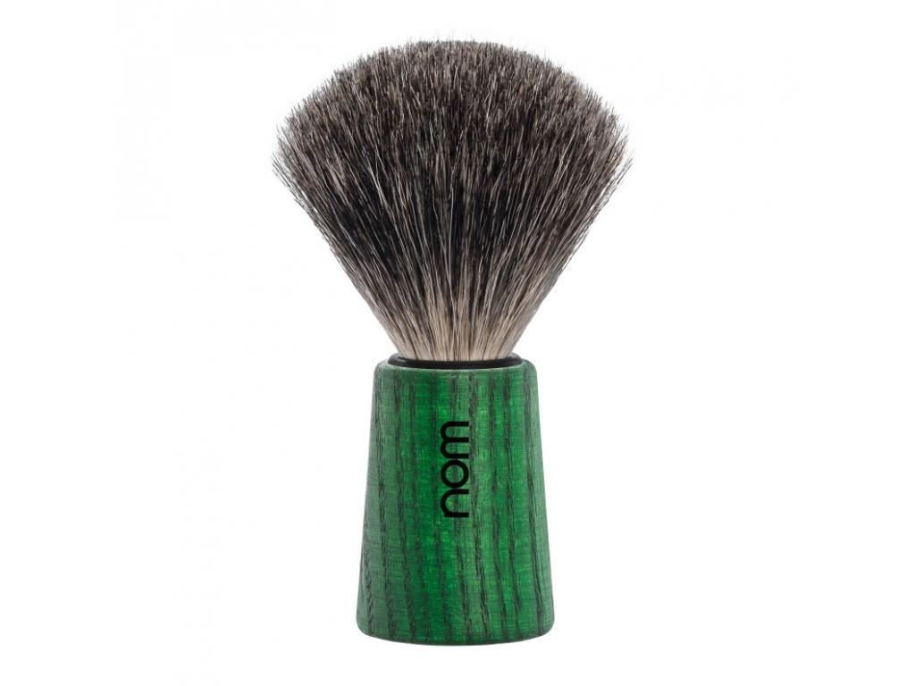Štětka na holení Mühle, mořený jasan, zelená, Pure badger