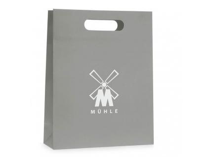 Dárková taška na holení Mühle šedá s logem