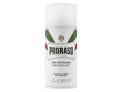 Pěna na holení pro citlivou pokožku Proraso, zelený čaj
