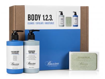 Dárkové balení Baxter tělo, peeling, sprchový gel a hydratační krém
