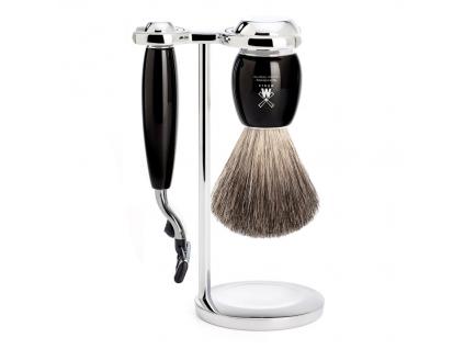 Sada na holení Mühle Vivo, černá, Pure badger, Mach3