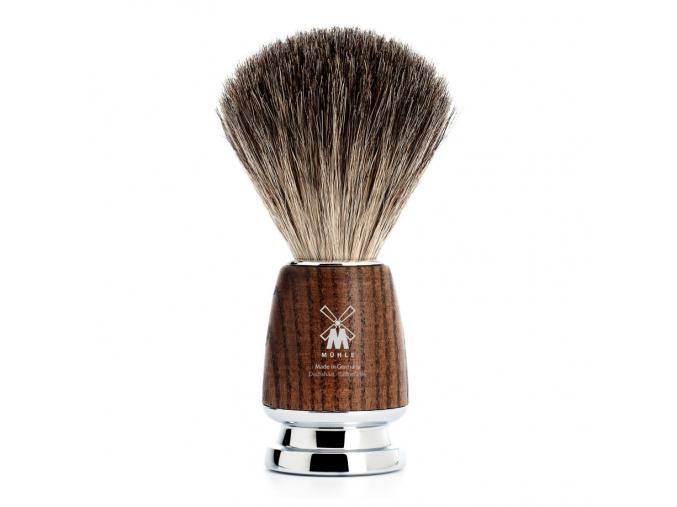 Štětka na holení Mühle Rytmo Ash wood, Pure badger