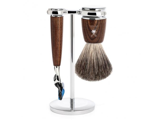 Sada na holení Mühle Rytmo Ash wood, Pure badger, Fusion