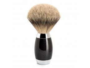 Luxusní holicí štětka Mühle EDITION Carbon, Silvertip badger