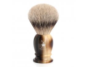Štětka na holení Mühle CLASSIC Horn Brown, Silvertip badger