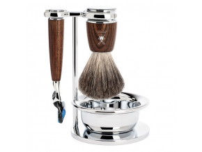 Sada na holení Mühle Rytmo Ash s miskou, Pure badger, Fusion