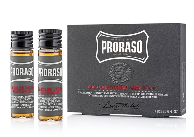 Proraso Hot olej na vousy 4x 17 ml