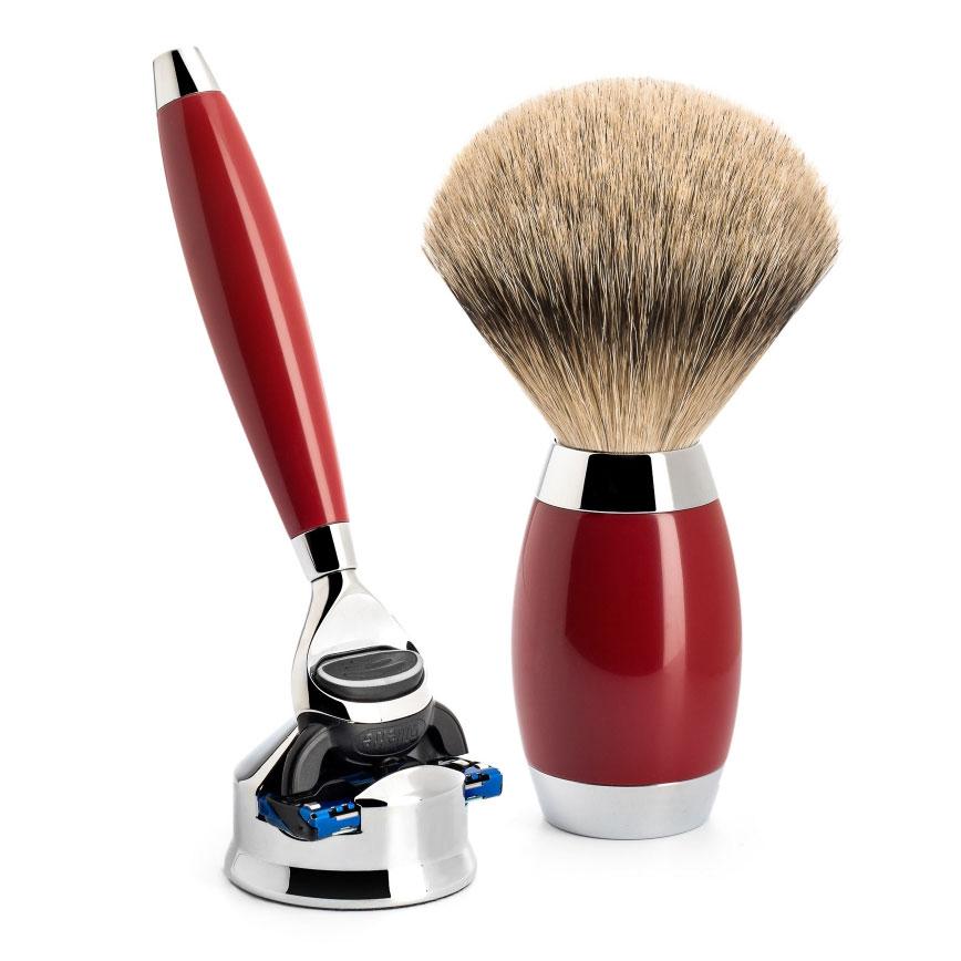 Luxusní sada na holení Mühle EDITION Urushi, Silvertip badger, Fusion
