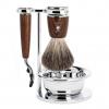 Sada na holení Mühle Rytmo Ash s miskou, Pure badger, Mach3