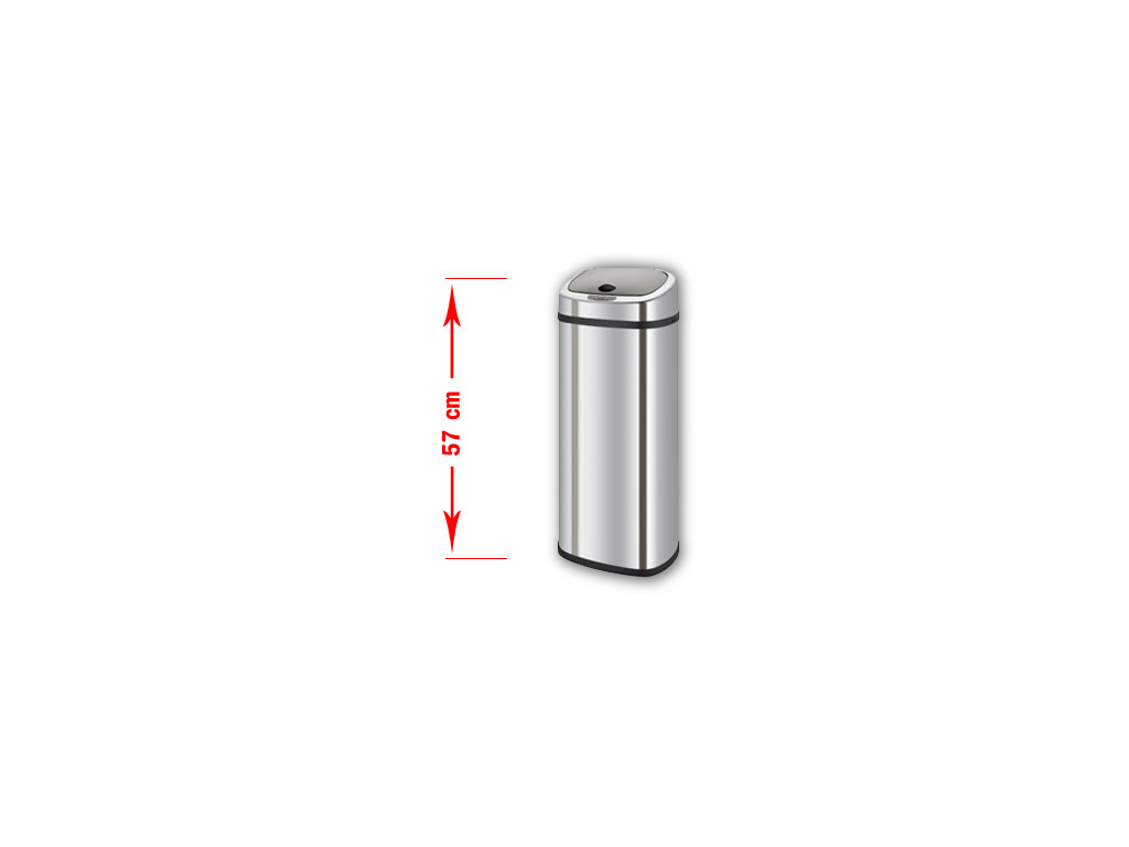 Bezdotykový odpadkový koš BRAVO 30L nerez
