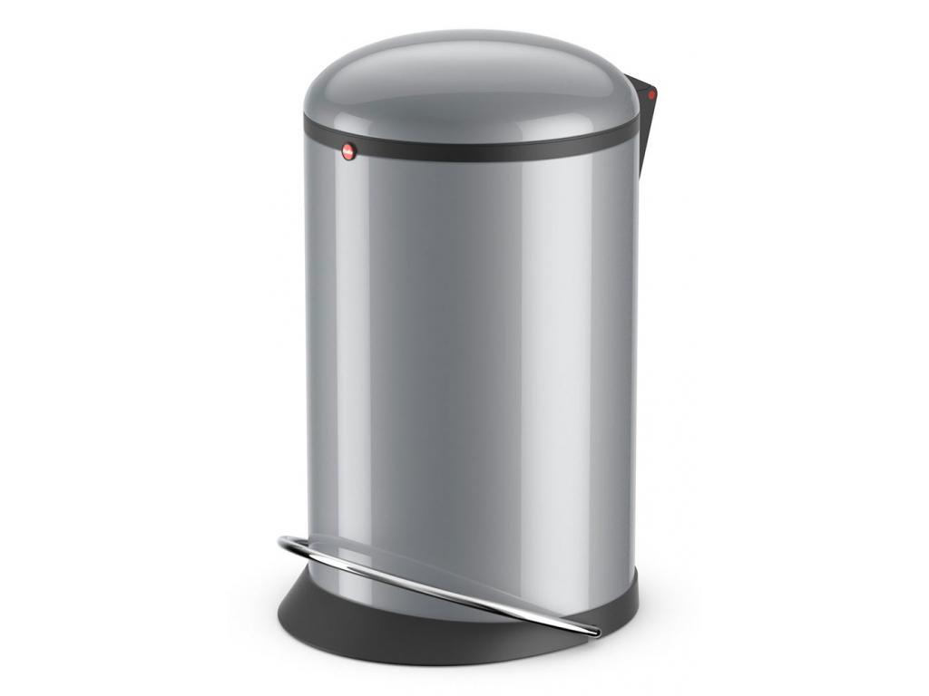 Odpadkový koš Hailo Harmony M 12L stříbrný