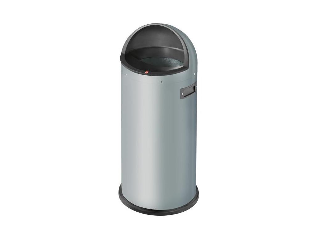 Odpadkový koš Hailo Quick 50L stříbrný - foto1