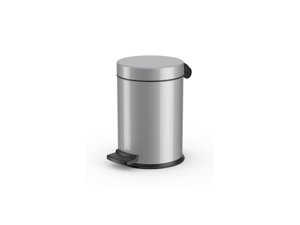 Kosmetický koš Hailo Solid S 4L stříbrný