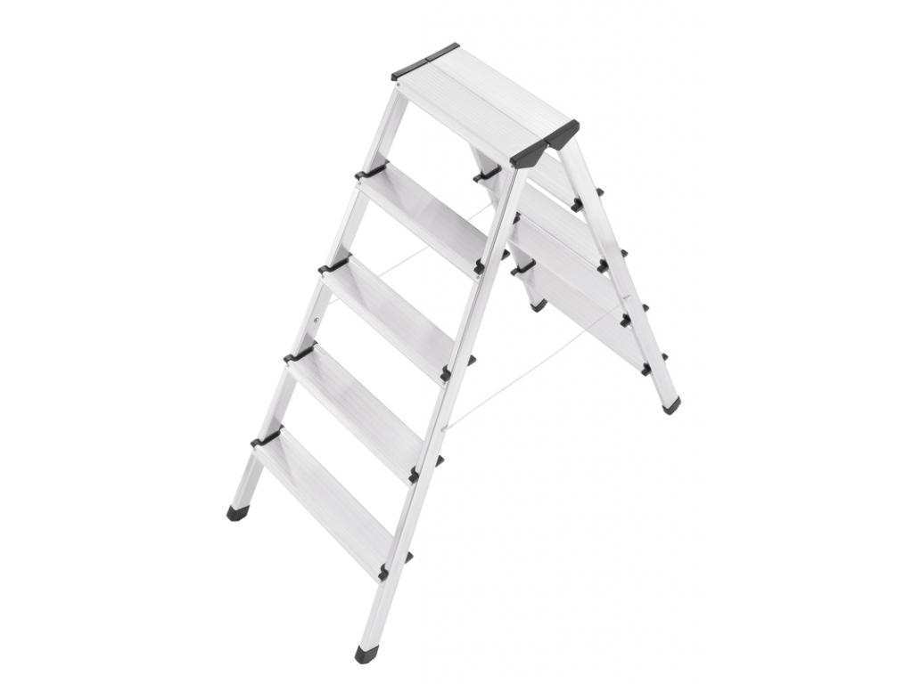 Hliníkové štafle HAILO D60 STANDARDLINE 2 x 5 stupňů