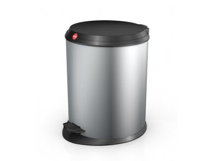 Odpadkový koš Hailo T1 M 11L stříbrný