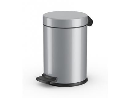 Kosmetický koš Hailo Solid S 3L stříbrný nehořlavý