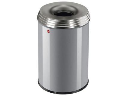 Samozhášecí odpadkový koš Hailo ProfiLine Safe PRO L 30 litrů stříbrný