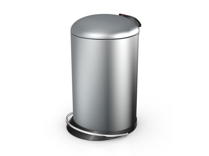 Odpadkový koš Hailo TOPdesign M 13L stříbrný