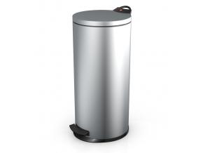 Odpadkový koš Hailo T2 L 19L stříbrný