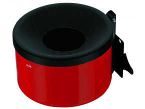 Nástěnný venkovní popelník Hailo ProfiLine easy 1 litr červený