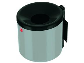 Nástěnný venkovní popelník Hailo ProfiLine easy 2,4 litru stříbrný
