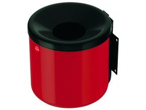 Nástěnný venkovní popelník Hailo ProfiLine easy 2,4 litru červený