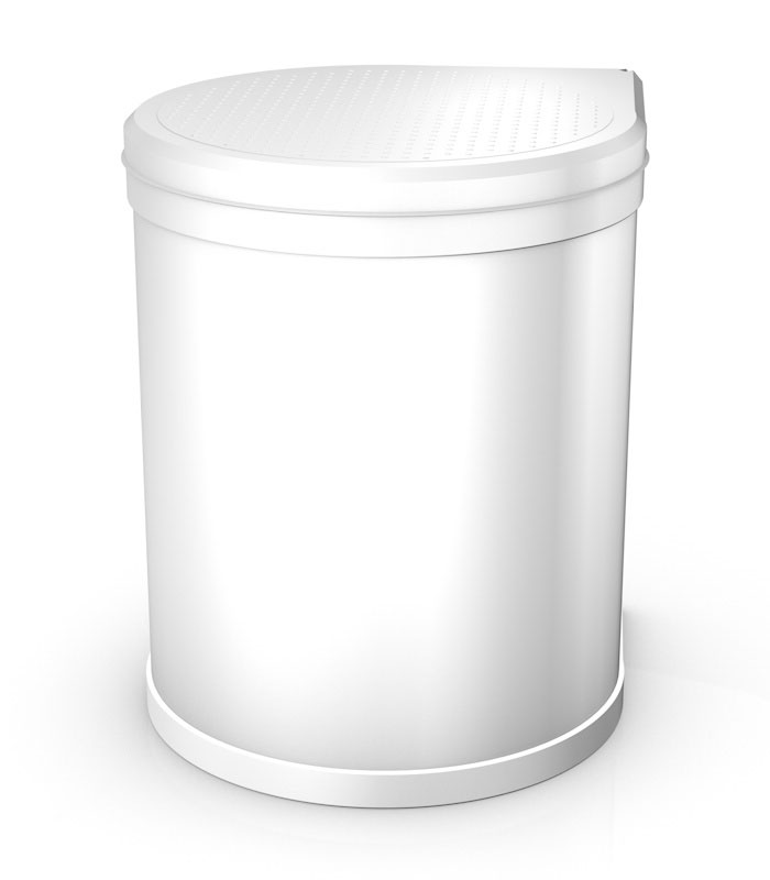 Hailo Vestavný odpadkový koš Compact M 15L bílý