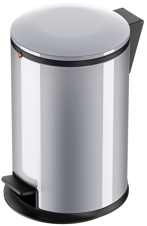 Odpadkový koš Hailo Pure M 12L stříbrný