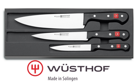 Sada kuchyňských nožů Gourmet 3 ks, Wüsthof Solingen - 9675