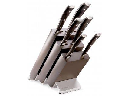 sada kovanych kuchynskych nozu s drevenou rukojeti v bloku ikon wusthof solingen 6 ks 1090570601