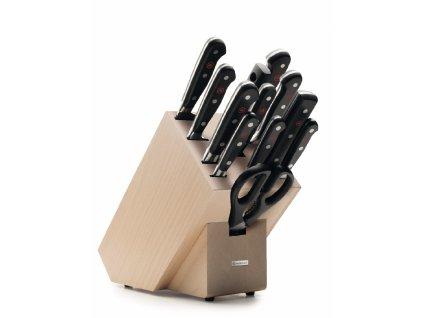 sada 13 ks dilu dily 8 nozu sekacek nuzky vidlicka na maso blok na noze ze svetleho dreva wusthof solingen classic kvalitni noze 1090171201