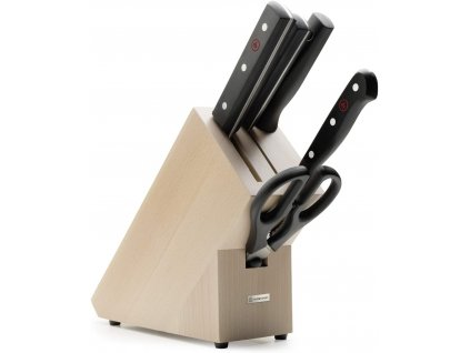 sada 5 ks dily dilu kuchynske noze blok na noze drevo wusthof solingen gourmet kvalitni noze 389