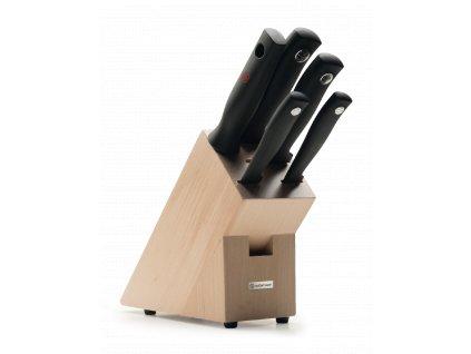 sada nozu a ocilky blok na noze svetly bukove drevo.5 ks dily dilu wusthof solingen silverpoint kvalitni noze 1095170501