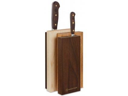 sada kovanych kuchynskych nozu s drevenou rukojeti v bloku crafter wusthof solingen 9845