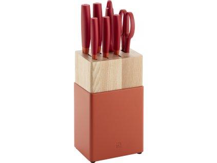 sada kuchynskych nemeckych nozu now s rood granada zwilling solingen ve stojanu 53030 220 cervena
