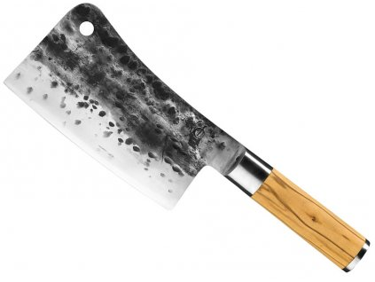 kovany sekacek cinsky kucharsky nuz z japonske oceli 19 cm forged olive SDV 623200 s drevenou rukojeti