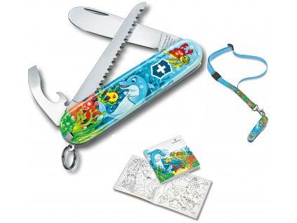 kapesni nuz victorinox detska sada omalovanky klicenka nuz delfin23