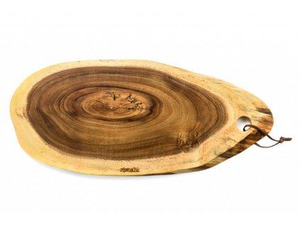ovalne servirovaci prkenko velke drevo akacie style de vie pro noze forged kvalitni noze 50 cm 21